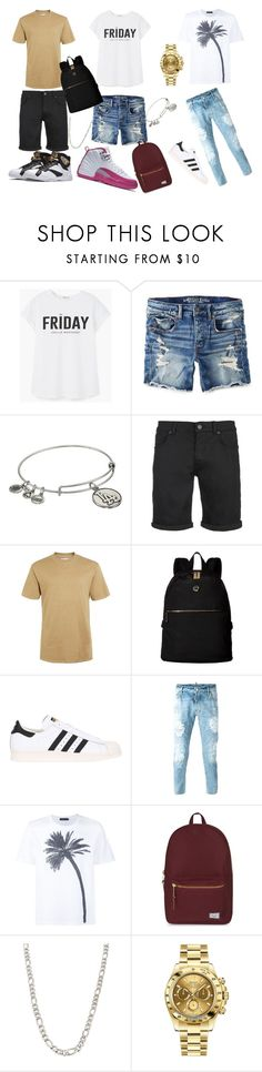 """""""Untitled #116"""" by babybrick ❤ liked on Polyvore featuring MANGO, American Eagle Outfitters, Alex and Ani, SELECTED, Topman, Tommy Hilfiger, adidas Originals, Dsquared2, Calvin Klein Collection and Herschel Supply Co."""
