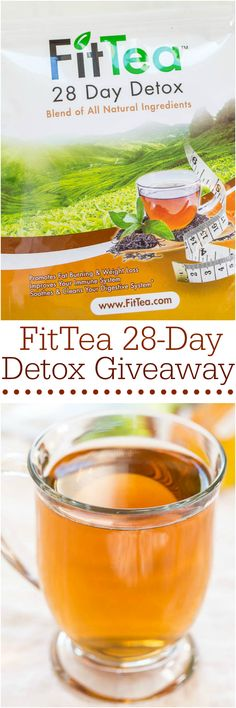 FitTea 28-Day Detox Giveaway - Give us a few weeks and you'll feet great! Fit Tea is your #1 health solution that promotes weight loss and gives you tons of energy! #FitTeaDetox