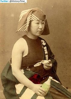 Female Sumo wrestler - ca. 1870s.