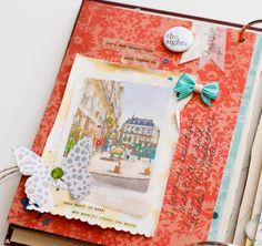 Travel Mini Album | Diane Payne Features Travel Phrases 1 and 2 flair sets