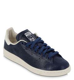 Stan Smith effet écail Adidas Originals en bleu marine pour femme - Galeries Lafayette