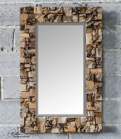 Uttermost Thatcher 05031 | Cool mirror for large wall behind couch in keeping room