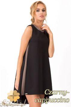 c682cf1e3b Damska sukienka na ramiączkach z przedłużonym tyłem marki Makadamia.   cudmoda  moda  styl  ubrania  odzież  sukienki  clothes  dresses