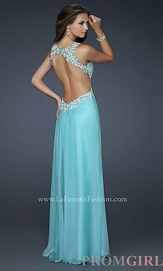 V-neck La Femme Prom Dress