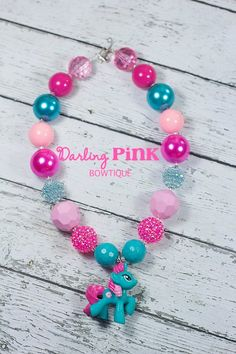 Pony Girls Chunky Necklace  by DarlingPINKBowtique on Etsy, $23.00
