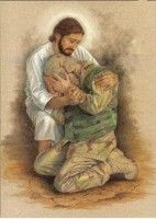 Our Lord and Savior Jesus Christ bringing sweet comfort to an American solider. This picture speaks a thousand words. My Champion, Support Our Troops, Jesus Pictures, Lord And Savior, God Bless America, Before Us, Christian Art, Way Of Life, Jesus Loves