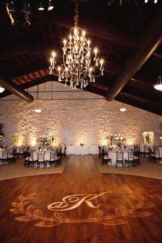 wedding reception lighting idea with monogram Wedding Reception Lighting, Wedding Reception Flowers, Event Lighting, Wedding Receptions, Reception Decorations, Event Decor, Wedding Centerpieces, Uplighting Wedding, Wall Lighting