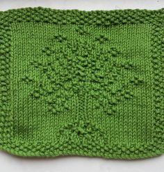 Free Knitting Pattern for LOTR Tree of Gondor Wash Cloth - Lord of the Rings inspired Aragorn wash/dish cloth that could also be used as an afghan block or as a motif in another project. Designed by Fang Bu who also includes a pattern for an Elven leaf called Arwen. Pictured project byRundstricken