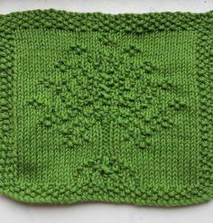 Free Knitting Pattern for LOTR Tree of Gondor Wash Cloth