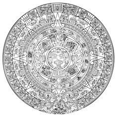 El canledario de los mayans.