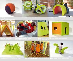 PLAY+ furnitures for children - play structures. Reggio furniture/play objects transforming spaces.