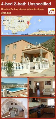 Townhouse for Sale in Hondon De Las Nieves, Alicante (Costa Blanca), Spain with 4 bedrooms, 2 bathrooms - A Spanish Life Portugal, Spanish Villas, Alicante Spain, Dining Area, Townhouse, Terrace, Master Bedroom, Lounge, Mansions