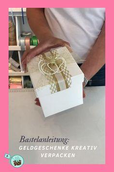 Mit dem praktischen Set verpackst Du Geldgeschenke zur Hochzeit super schön und kreativ. Jetzt ansehen!  #Hochzeit #Geldgeschenkeverpacken Creative Box, Decorative Boxes, Gift Wrapping, Butterfly, Party, Blog, Gifts, Diy, Super