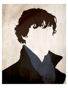 Minimalist Sherlock Poster Sherlock Holmes  8 x by monkeylightning, $10.00