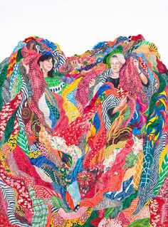 Monica Rohan | News | Jan Murphy Gallery Portrait of two fashion designers by Contemporary Welsh artist
