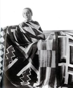 Sonia Delaunay Draped In One Of Her Large Scarves, 1923.