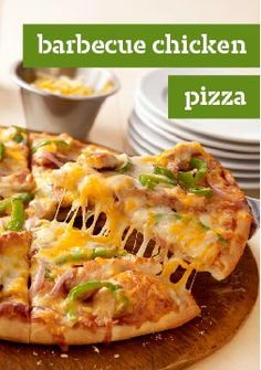 California-Style Barbecue Chicken Pizza -- BBQ sauce, tasty toppings and triple Cheddar cheese make for an ooey-gooey gourmet pizza recipe ready in about 30 minutes. Your entourage will thank you.