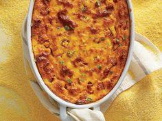 Cheesy Ham, Corn, and Grits Bake Recipe Savory Breakfast, Breakfast Time, Breakfast Casserole, Cereal Recipes, Casserole Recipes, Baking Recipes, Corn Casserole, Corn Recipes, Brunch Recipes