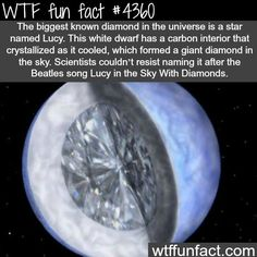 The biggest diamond in the universe -  WTF fun facts