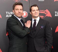 Ben Affleck and Henry Cavill at Batman v Superman: Dawn of Justice (2016)