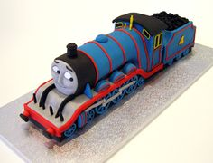 And now he's 4! Fabulous 'Gordon' train cake