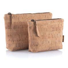 Cork Fabric Travel Zip Pouches