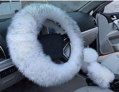 Frein à main d'hiver chaude en laine synthétique Housse p…