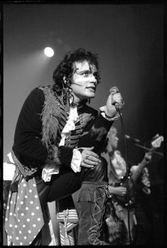 Adam Ant, The Venue, Victoria, London, UK (April 1, 1981). Photo by David Corio.