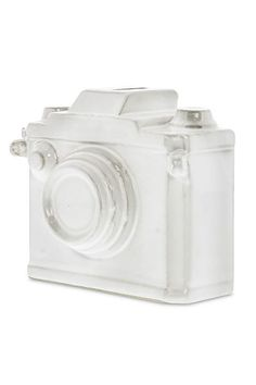 $12 BUY NOW This ceramic camera bank doubles as decor.