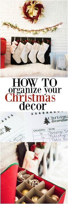 How to Organize Your Christmas Decorations