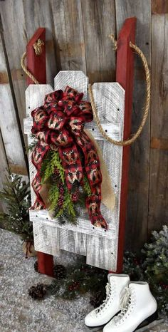 Christmas Home accent Shelf sitter Christmas Greenery Quilted Ornament -39- No-sew ornament Home decor RTS