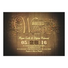 Discount Dealsrustic country wedding invitations engraved woodin each seller