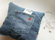 upscale jeans pillow - Google Search