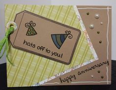 Hats Off to You lawn fawn anniversary card