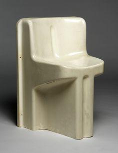 Claude Courtecuisse; Molded ABS Plastic 'Soléa' Chair, 1969.