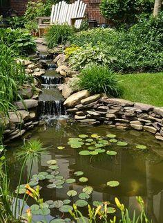 Chutes d'eau et jardin d'eau, idées et conseils