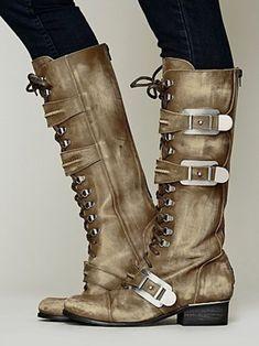 Free People Womens Kantell Lace Up Boot - Khaki,