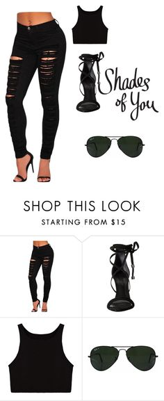"""""""Sexy and cute combined"""" by maris-lember on Polyvore featuring Schutz and Ray-Ban"""