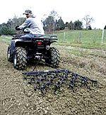 Chain Harrow by Tarter - food plot hunt deer ATV UTV gun shotgun farm seeder rifle compact tractor wild turkey hunt tine extend combine draw bar Garden Tractor Attachments, Atv Attachments, Atv Accessories, Garden Accessories, Tractor Accessories, Food Plots For Deer, Atv Trailers, Tractor Implements, Farm Tools