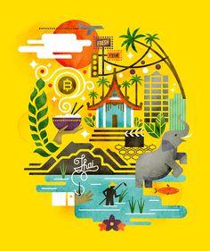 Illustrations / Monocle Thailand Matt Lehman Studio — Designspiration
