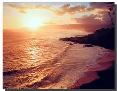 Add the beauty of nature to your home décor by getting this beautiful coastal sunset on ocean beach scenic landscape wall picture art print poster. This poster is just perfect for your living room. We offer durability and perfect color accuracy which keep long lasting beauty of the product. Order today and enjoy your surroundings.