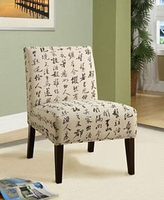 Acme Aberly Chinese style Mcrofiber Padded Accent Chair