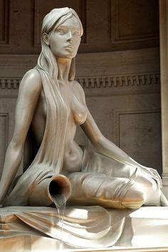 Running Water Marble Statue #Art #Sculpture #Statue