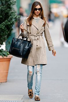 simple. jeans + trench