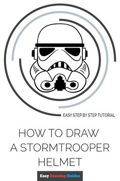 Learn to draw a stormtrooper helmet. This step-by-step tutorial makes it easy. Kids and beginners alike can now draw a great looking stormtrooper helmet. Drawing Tutorials For Kids, Drawing Tips, Drawing Ideas, Easy Arts And Crafts, Arts And Crafts Projects, Disney Princess Art, Disney Art, Doodle Drawings, Cartoon Drawings