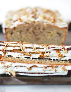 Hummingbird Cake meets Banana bread to make this tasty treat.