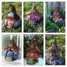 DIY Adorable Pine Cone Fairy House 1