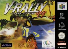 V-Rally: Edition - V-Rally was the first Rally game to be published on the PlayStation. This Edition 99 is the Nintendo 64 port of the original game, with slightly improved graphics and menus. Nintendo 64 Games, Road Conditions, Rally, The Originals, Products, Gadget