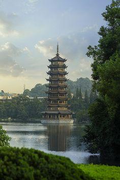 Pagoda in Guilin Chi