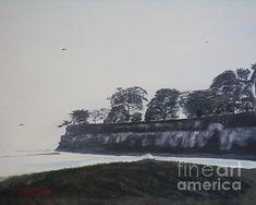 Title  Santa Barbara Shoreline Park   Artist  Ian Donley   Medium  Painting - Mixed Media Acrylic And Oil On Canvas